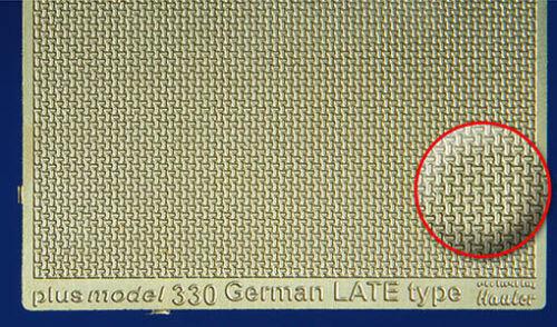 Plus Model 330-1:35 Ätzsätze German Late Engraved Plate