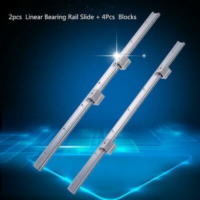 2x SBR12 700mm Linearführung Linearwelle Gleitschiene Welle 4x SBR12UU Block