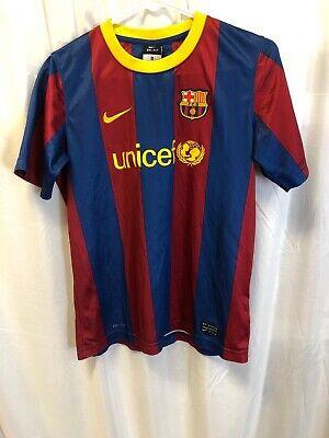 Nike Team Fc Barcelona Football Soccer Unicef Jersey Boys Kids Youth Xl Ebay