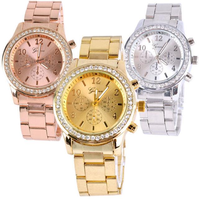 Womens Fashion Bracelet Wrist Watch Ladies Designer Style Gift Girl  Crystal