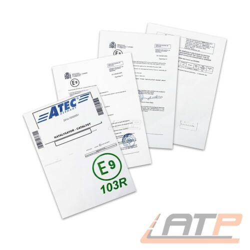 KATALYSATOR KAT MONTAGEMATERIAL OPEL ZAFIRA A 1.6 1.8 BJ 99-00
