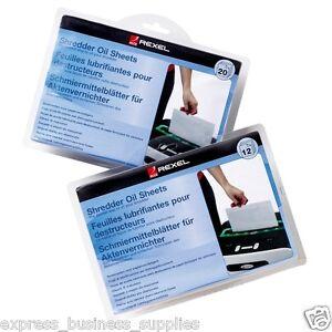 Rexel Shredder Oil Sheets 20 Pack - AA2101949 5028252248037