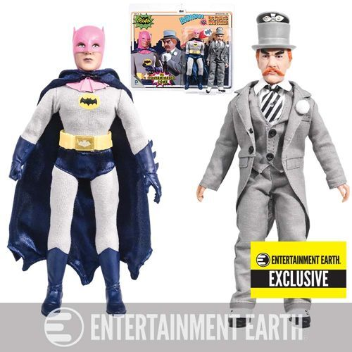 Pink Cowl BATMAN vs MAD HATTER 1966 TV Series 8 8 8 Retro Mego Action Figures Toy Co 93c07f