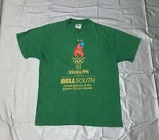Vintage Atlanta 1996 Olympic Games Shirt 100 Years Torch Rings men's L 90's VTG