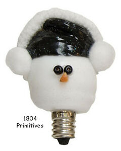 Snowman W Earmuffs Silicone Dipped Bulb Made In Usa Ebay