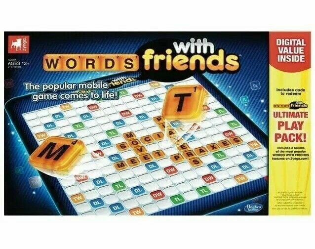 Zynga Words With Friends Hasbro Classic Board Game T5 for sale online