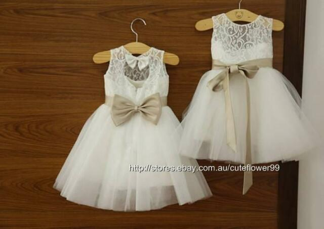 New Flower Girl Dress Princess Vintage Special Occasion Party Wedding Dress