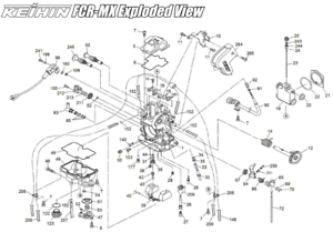 keihin fcr mx carburetor clip jet needle diagram part 24 ebay rh ebay com keihin carb diagram honda cr60r keihin carburetor parts diagram