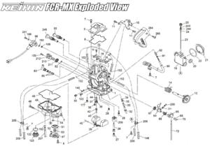 KEIHIN FCR MX 32 CARBURETOR Vaccum Release Plate Seal DIAGRAM PART #22