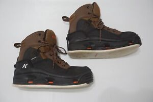 Korkers Buckskin Felt Sole Removeable Mens Wading Boots Sz 8 BARELY USED