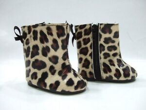 """Doll shoes leopard boots fits 18""""American Girl Dolls"""