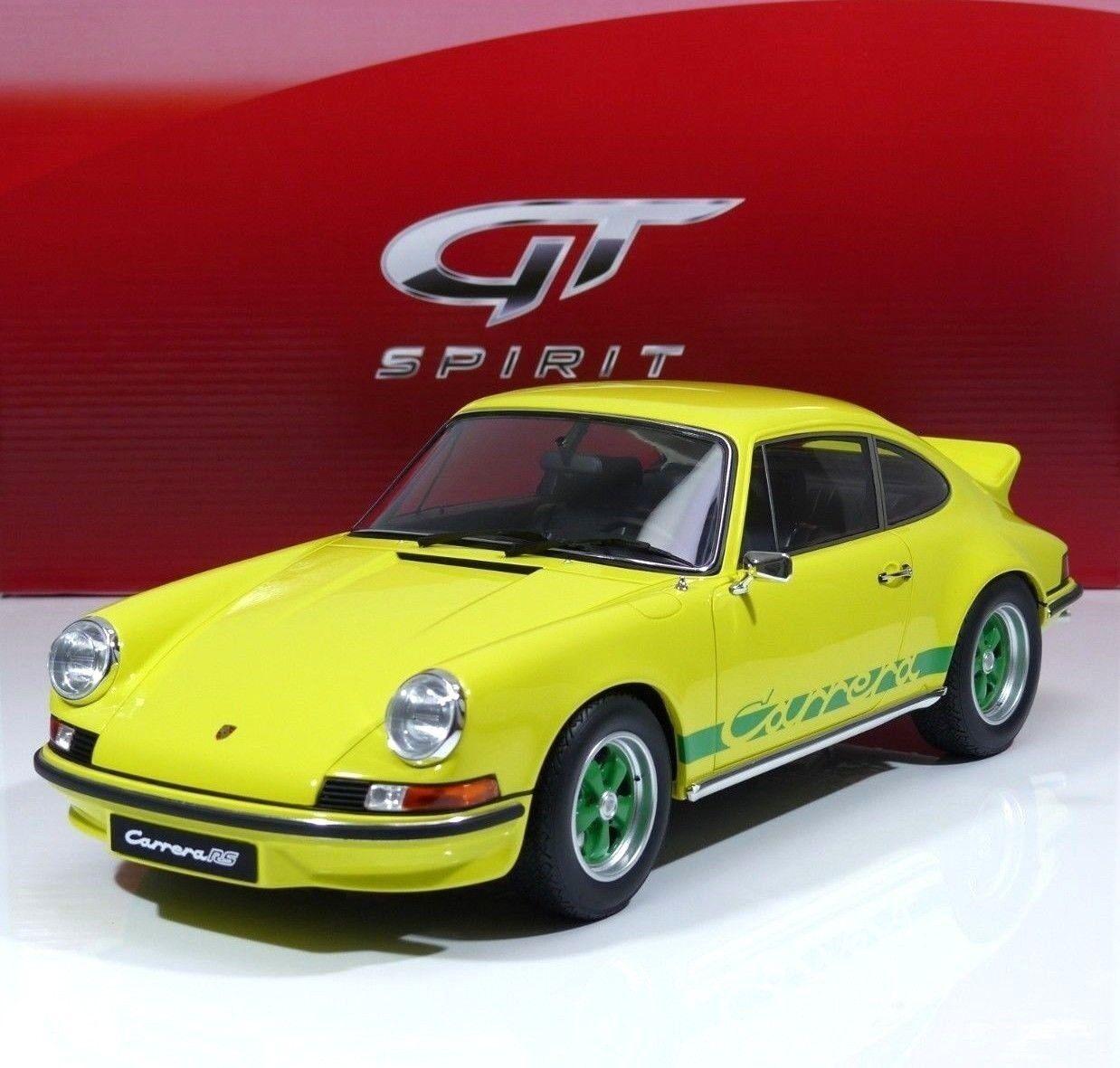 PORSCHE 911 2.7 RS CARRERA anno di costruzione 1973 LIGHT JELLOW gt733 GT Spirit 1 12 NUOVO