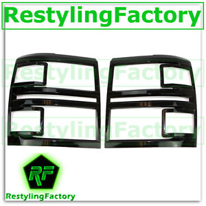 14-15-Chevy-Silverado-1500-Extended-Crew-Cab-Gloss-Black-Headlight-Trim-Cover
