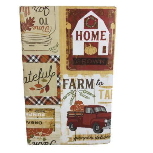 Red Truck Fall Vinyl Tablecloth Home Grown Farm Rustic Farmers Market Asst Sz.