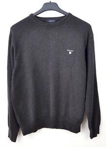 GANT-Men-039-s-Medium-Large-100-Cotton-Crew-Neck-Grey-Sweater-Jumper-Pullover-M-Top