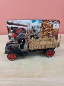 1:32 Scale 1918 Mack Ac Bulldog Flatbed Truck Texaco Port Arthur Works Coin Bank
