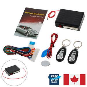 Universal 12V Car 2 Remote Central Kit Door Lock Keyless Entry Alarm System CA