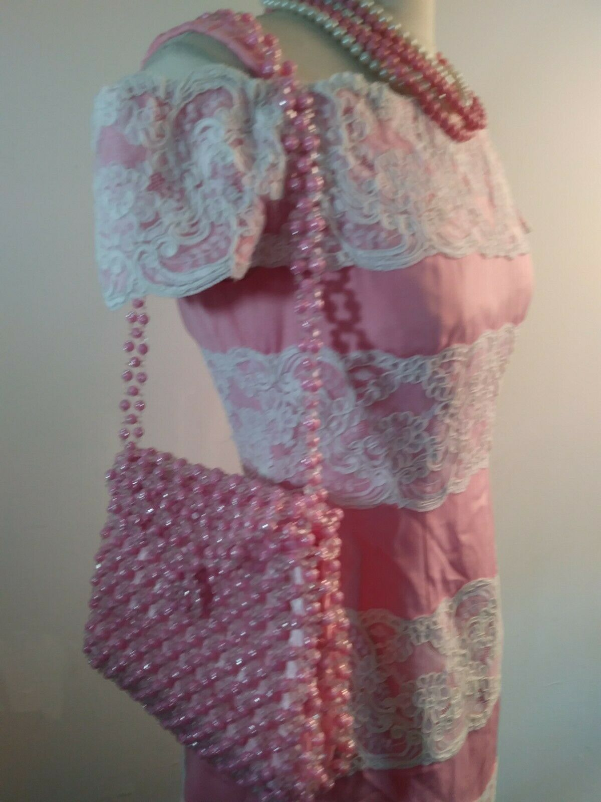 Vintage 80s  Scaasi Boutique Sax Fifth Ave Pink& … - image 12