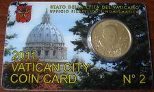 Euro VATICANO 2011 COIN CARD 50 CENT in Folder Ufficiale