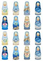 Matryoshka Babushka Russian Doll Stickers On Glossy Paper Set Of 16 2.5