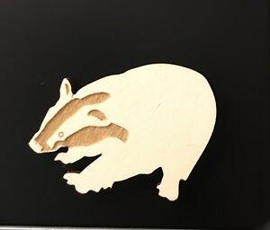 Badger Fridge Magnet Laser Cut & Engraved Gift
