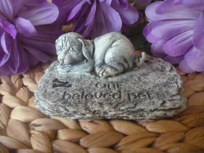 Pet Dog Memorial Rock Grave Marker Statue Rocks Sign Plaque Garden Gravestone Ebay