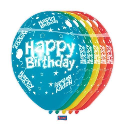 Por folatos 19300-cumpleaños /& fiesta-globos Happy Birthday multicolor 5 unid