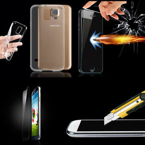 Ultra-Thin-Transparent-Clear-Soft-TPU-Case-Skin-Cover-Tempered-Glass-For-Phone