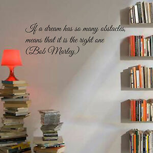 Wall stickers frasi adesivo murale bob marley divano sala cucina camera da letto - Wall stickers camera da letto ...