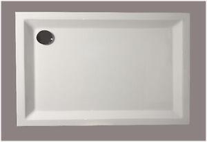 Dusche Duschwanne  Wanne 120 x 90 TÜV geprüftes Acryl mit verstärktem Boden