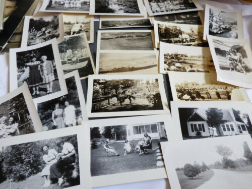 VTG 23 pc Photographs Snapshots old black & white photos Nature people Travel