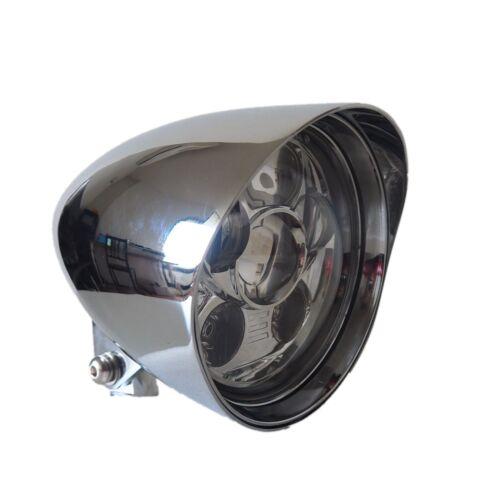 "5.75/"" Chrome LED daymaker bullet headlight Harley DYNA WIDE GLIDE FXDWG FXR"