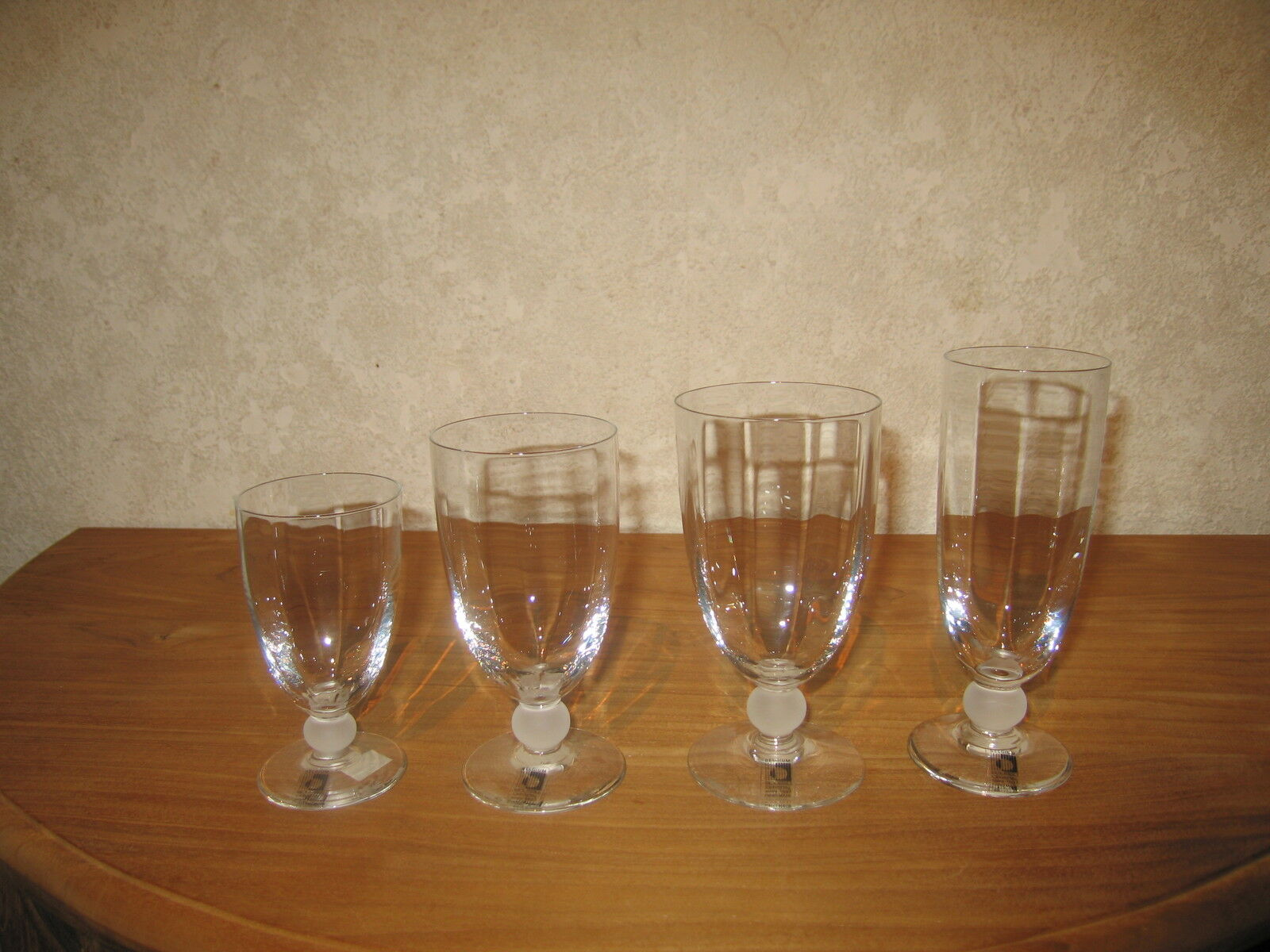 BOUSSU NEW CHRISTIANE BOUTON SATINE Set 4 Verres Glasses