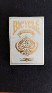 Bicycle-Lim-Edition-Collector-039-s-Pearl-White-Playing-Cards-Very-Rare-SEALED