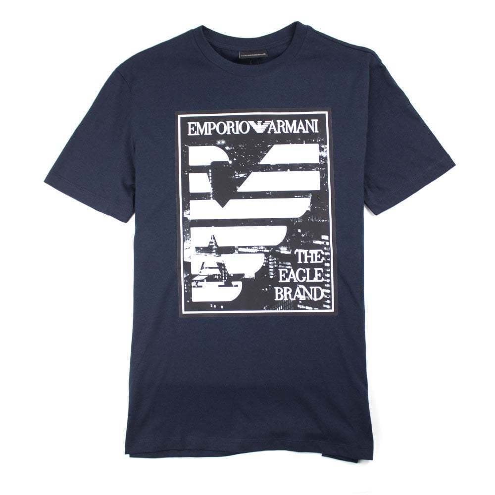 Emporio Armani The Eagle Brand T-Shirt Navy