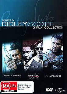 1 of 1 - Ridley Scott Collection - Robin Hood / Gladiator / American Gangster (DVD, 2010,