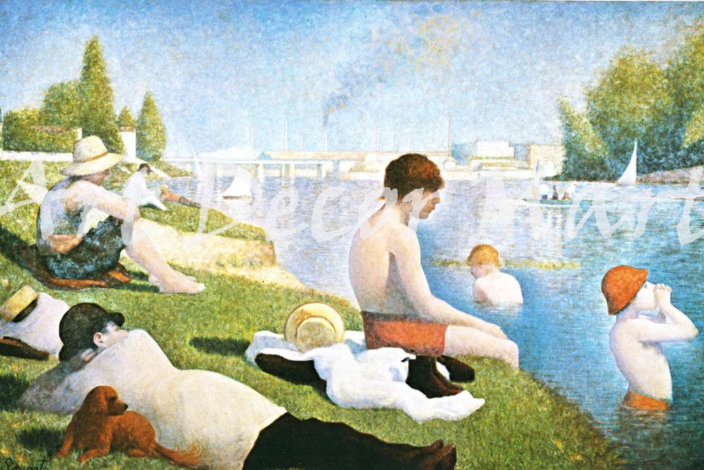 Bathing At Asnieres-Seurat - - CANVAS OR PRINT WALL ART