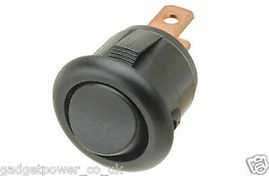 MINI-ROUND-ROCKER-SWITCH-2-POSITION-SPST-ON-OFF-BLACK-FOR-15MM-HOLE