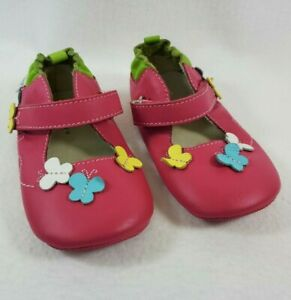 Robeez Pink Leather Mary Jane Shoes
