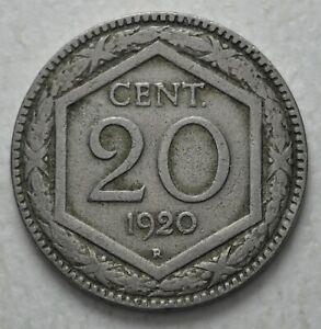 1920-Kingdom-Italy-20-Cents-Hexagon