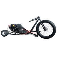 Go Kart 6.5hp Engine 3 Wheeler Drift Trike Kart 28 Front Rim Steel Frame