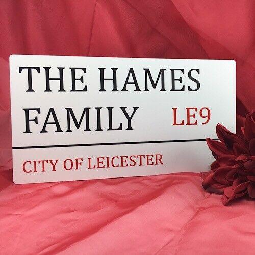 Personnalisé Famille Londres provoqua Street Signe En Métal Imprimé Aluminium Plaque Large