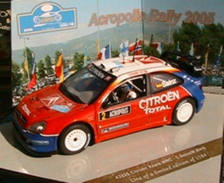 CITROEN XSARA WRC  2 ACROPOLIS RALLY 2005 VITESSE 43225 1 43 CARLOS SAINZ