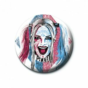 Details About Suicide Squad Pin Badge Harley Quinn Tattoo 25mm Badge Official