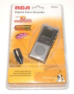 RCA Digital Voice Recorder with Clip-On Microphone & Built-in Memory RP5014