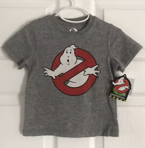 GHOSTBUSTERS-Toddler-Boys-Logo-Short-Sleeve-Tee-Gray-Size-18-Months