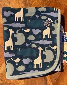NEW Kickee Pants Stroller Blanket in Multi Animal Print (2016)