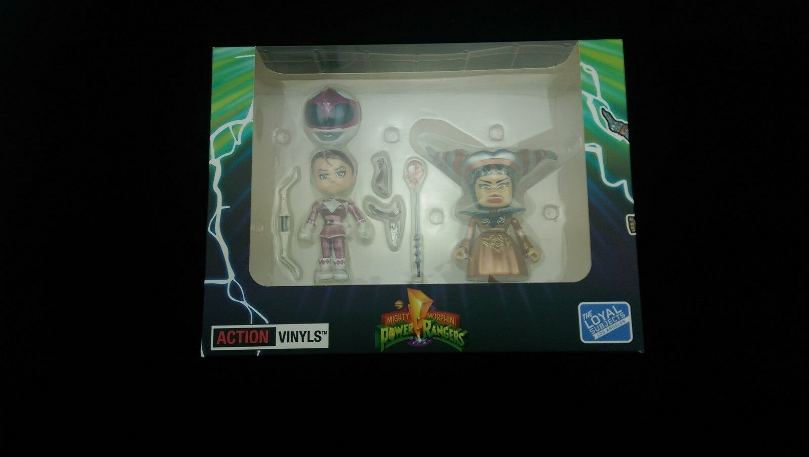 The Loyal Subjects MMPR Pink Ranger vs Rita Repulsa SDCC 2015 Worldwide Free S H
