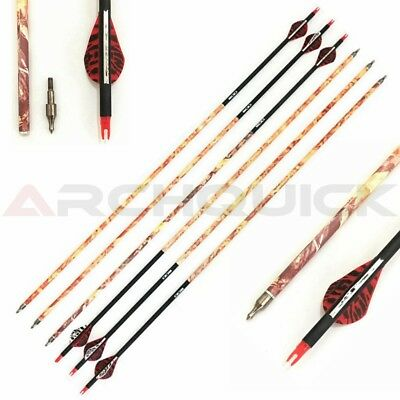 "12x 31.5"" Carbon Camo Arrows For Compound Or Recurve Bow Target Archery Complete Arrows"