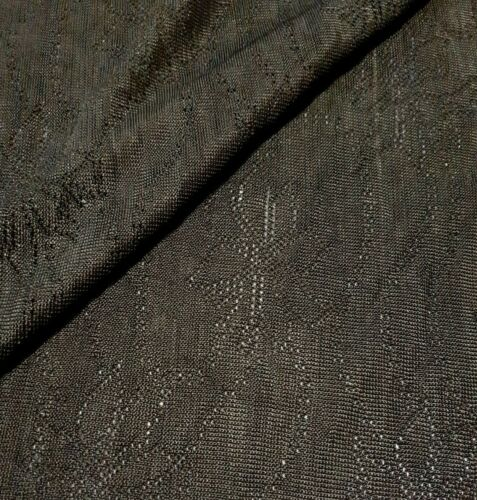 DARK GREEN FLORAL FIGURED LACE JERSEY FABRIC SOLD BY THE METRE